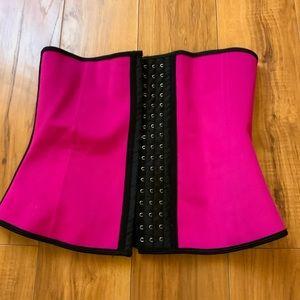 Pink & Black Corset